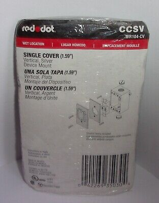 Red Dot Ccsv Single Cover Wet Location 1 Gang  New In Package