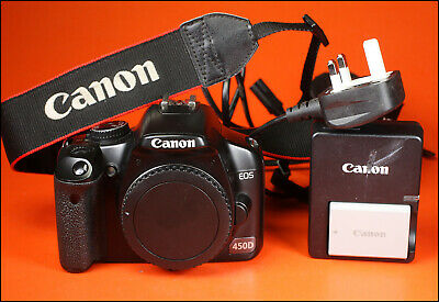 Canon EOS 450D Digital SLR Camera, Sold With Battery,Charger, Strap 19,176 Shots
