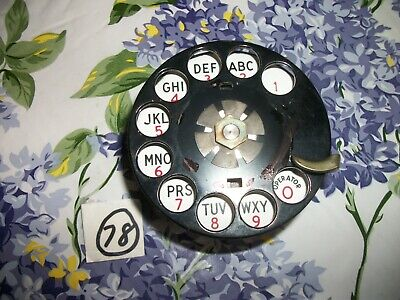 Old Style W.E Metal Finger Wheel ,  Rotary Phone Dial,  Parts
