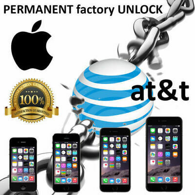 Premium FACTORY UNLOCK SERVICE AT&T CODE ATT for IPhone 5S 6 6s SE 7 8 X XR XMAX