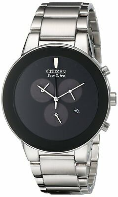 Citizen Axiom Eco-Drive Men's Chronograph Stainless Steel Watch # AT2240-51E