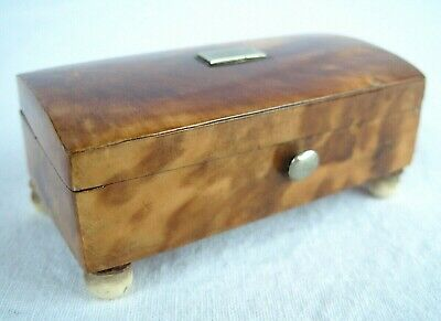 Antique SHELL and Silver Box, English Early 19th Century