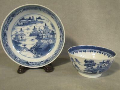 2 Antique Chinese Export Blue & White Bowls