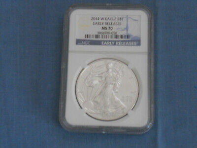 2014 (W) - Silver American Eagle - NGC MS 70 Early Releases