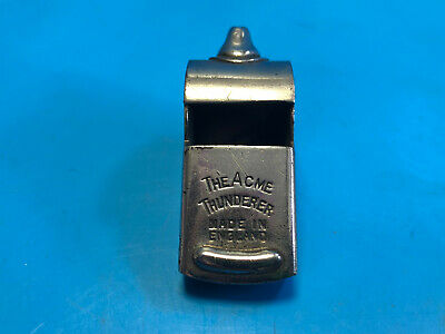 Old Vtg The Acme Thunderer Rawlings Silver Tone Blowing Whistle Made In England