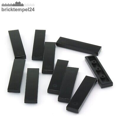 LEGO® 20Stk Smooth Parts Black Schwarz 2431-04 1x4 - Fliese