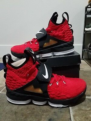 aaace428cd Nike Lebron 15 XV Red Diamond Turf Deion Sanders Prime Time DS Sz. 11.5
