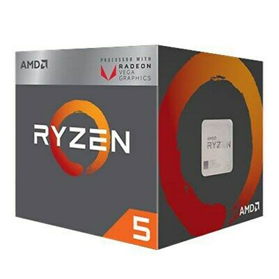 AMD Ryzen 5 2400G 4-Core Socket AM4 3.6GHz CPU with Radeon RX Vega 11 Graphics