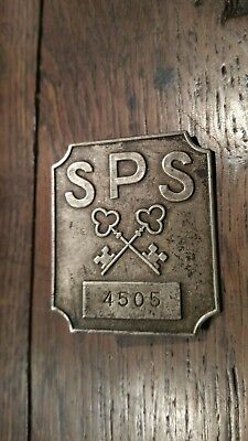 Insigne SPS ( matriculé ) Fabricant Mourgeon