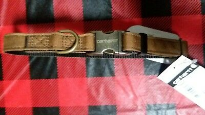"Carhartt Journeyman Dog Collar Cordura Nylon Small Med 12-18"" Neck New With Tags"