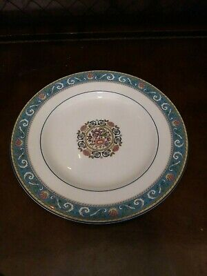 Wedgwood Runnymede Turquoise Bread Plates 6 inch Bone China Dinnerware England