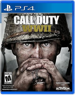 Brand New Factory Sealed Call of Duty WWII PS4 PlayStation 4 COD World War 2