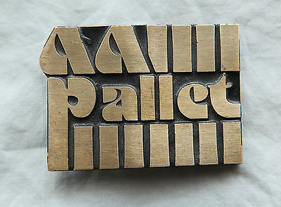 Vintage Brass All Pallet Belt Buckle