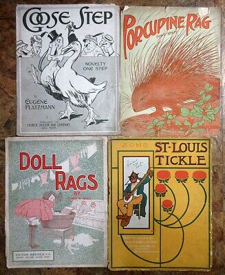 Lot 66: 18 Pcs RAGS March Two-Step Instrumental Sheet Music 1900 - 1925 group