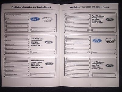 Ford Service Book (Stamped) Brand New & Genuine, Choose How Many Stamps You Want