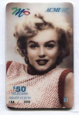 1995 Marilyn Monroe $50.00 Phone Calling Card ACMI Telecard - Issue of 200