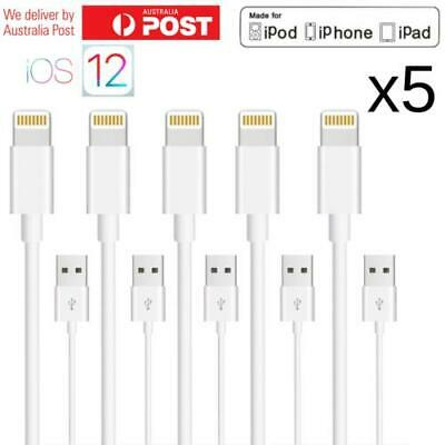 5 X Lightning USB Cable Charger for Apple iPhone X XR XS Max 8 7 6 Plus iPad