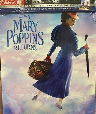New Mary Poppins Returns 4K Ultra Hd Blu Ray Target Exclusive Digipack Slipcover