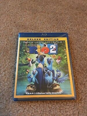 Rio 2 Deluxe Edition Bluray 3D Bluray Dvd Brand New Factory Sealed