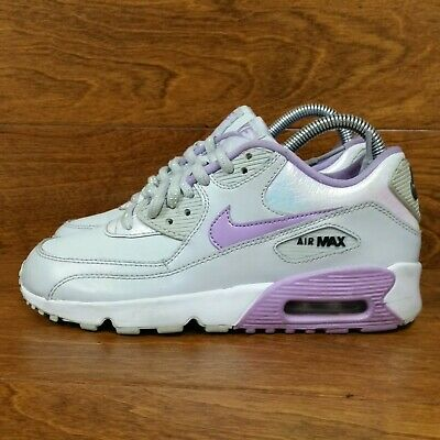 official photos 370da d9f09 Nike Air Max 90 (Girls Size 5 Y) Running Sneaker Shoes Gray Purple  Incandescent