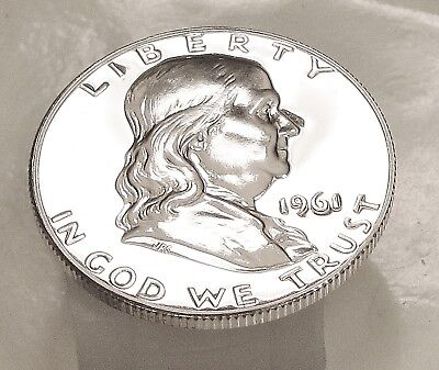 1961  Franklin   Choice  Proof   90%   Silver  >Coin  as  Pictured<  #117  25