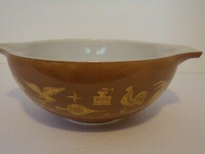 Pyrex Bowl #444 Americana Rooster 4qt Ovenware Near Mint Unused