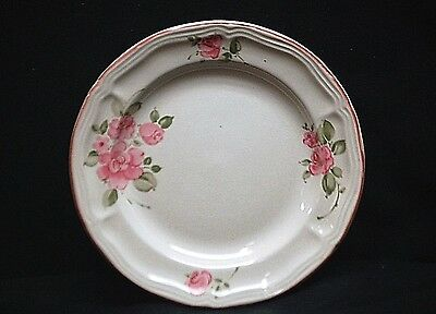 "Old Vintage Roseland by Gibson Housewares China 7"" Salad Plate Pink Roses Trim"