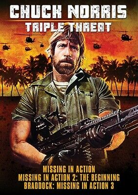 CHUCK NORRIS TRIPLE THREAT New Sealed DVD Missing in Action Trilogy 1 2 3