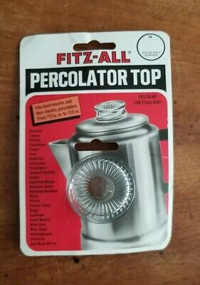 "Fitz-All 135 Replacement Clear Glass Percolator Top for 13/16"" to 1-1/2"" Hole"