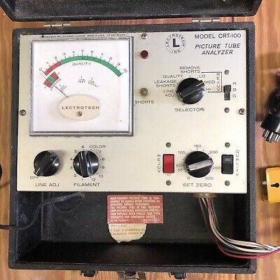 Vintage LECTROTECH Picture Tube Analyzer - Model CRT-100