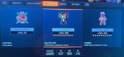 BO3 Prestige Master Level 1000 & 1000 Zombies PS4 • Call of Duty Black Ops 3