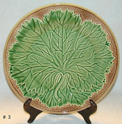 "Bordallo Pinheiro PORTUGAL New Vine Pattern 10 1/2"" Dinner Plate # 3"