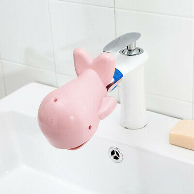 Whale Faucet Extender Kids Happy Fun Tubs Baby Hand Washing Restroom Sink New AG