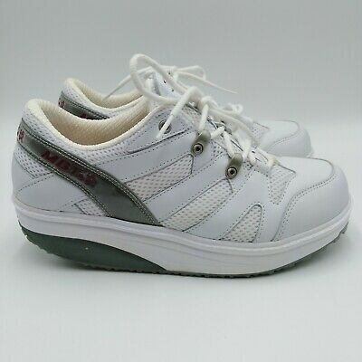 Details about MBT White SHAPE UPS Strength Fitness Shoes 400108 75 Women Sz 9.5