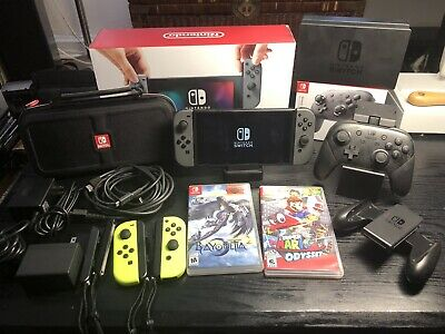 Nintendo Switch 32GB Console Games 2 Docks Pro Controller & More - Barely Used!