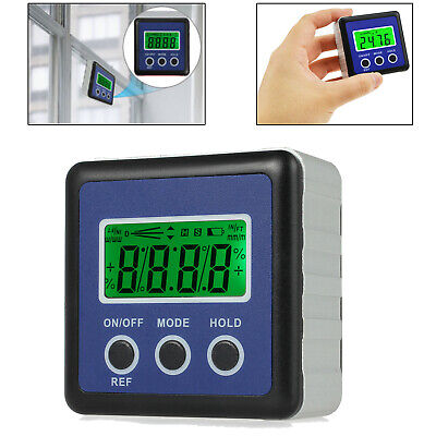 LCD Digital Protractor Angle Gauge Meter Magnetic  Bevel Level Box Inclinometer