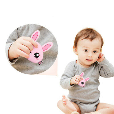 Baby Toddler Infant Teether Teething Chew Toys Silicone Rabbit-shaped Gift B
