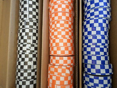 6 Rolls Presco Checkerboard Roll Flagging Tape Safety Survey Sports