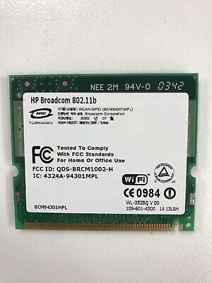 Hp Broadcom 802.12b Wifi Card For Laptop