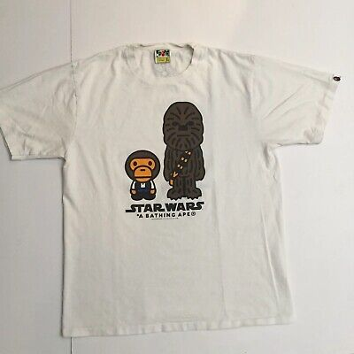 c4066863 BAPE SHIRT BATHING Ape Star Wars Chewbacca Tshirt Sz XL - $99.00 ...