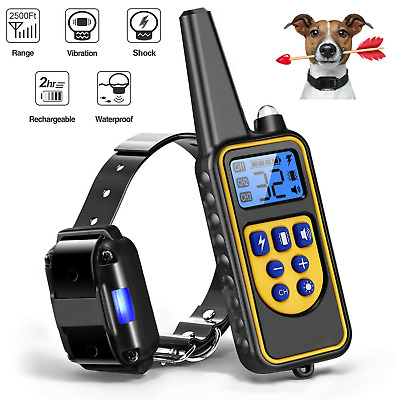 2600 FT Remote Dog Training Shock Collar Waterproof Rechargeable Pet Control