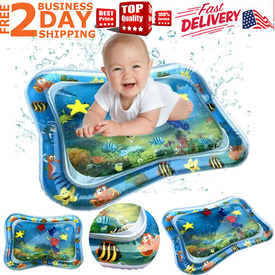 Inflatable Baby Water Mat Play Fun for KidsChildren Infants Best Baby Tummy Time