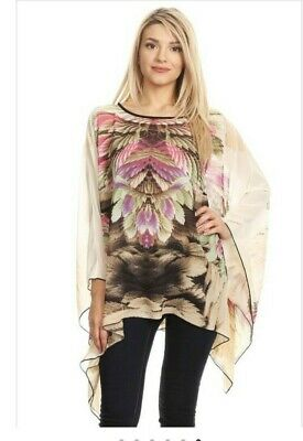 3669411147d PLUS SIZE 3X CHIFFON KIMONO TUNIC ~ NORDSTROM TAG $126 ~ Made in USA ...