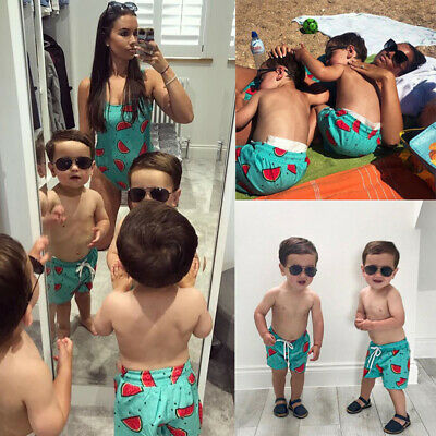 Family Matching Women Kid Baby Boys Shorts Trunks Swimwear Swimsuit Bathing Suit