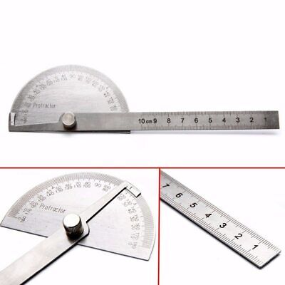 1Pc Stainless Steel 180 Degree Protractor Angle Finder Measuring Ruler Tools