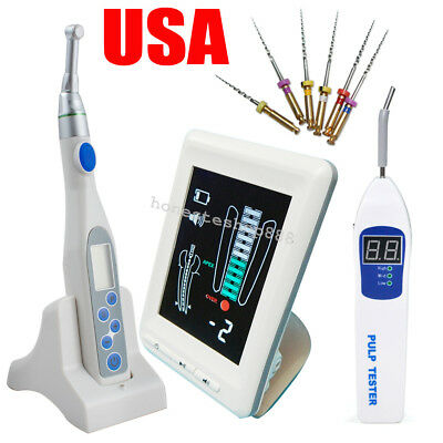 "USA! 4.5"" Dental Apex Locator Root Canal Endo Motor Treatment Pulp Tester Files"