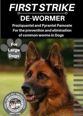 Dewormer for Large Dogs 75 to 150 pounds, 3 broad spectrum capsules