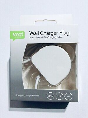 Job Lot of 12 Wall Charger Plugs for iPhone, iPad, iPod- 8 Pin