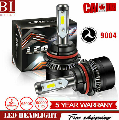 9004 HB1 LED Headlight Kit For Dodge Ram 1500 2500 3500 2000-2003 High Low Beam