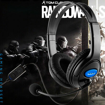 Gaming Headset Mic Stereo Headphone 3.5mm Wired For Sony PlayStation 4 Laptop